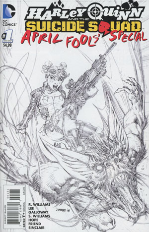 Harley Quinn And The Suicide Squad April Fools Special #1 Cover D Incentive Jim Lee Sketch Cover