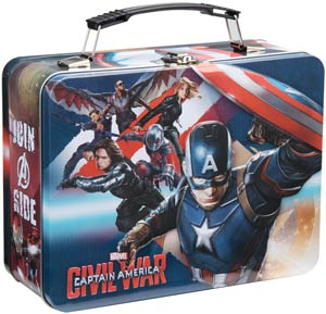 Marvel Comics Large Tin Tote - Captain America Civil War
