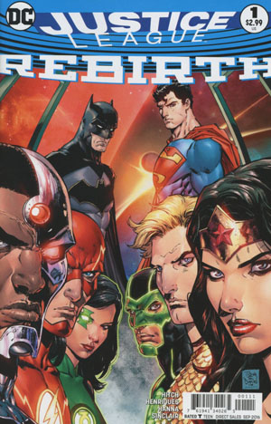 Justice League Rebirth #1 Cover A 1st Ptg Regular Tony S Daniel Cover