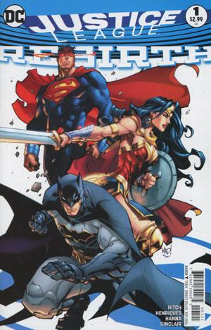 Justice League Rebirth #1 Cover B Variant Joe Madureira Cover