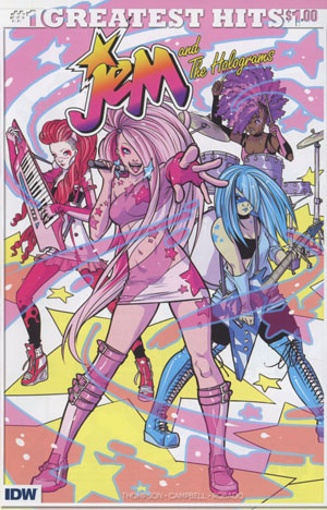 Jem And The Holograms #1 Cover J IDWs Greatest Hits