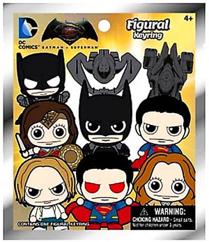 Batman v Superman Dawn Of Justice Laser Cut Fig Keyring Blind Mystery Box