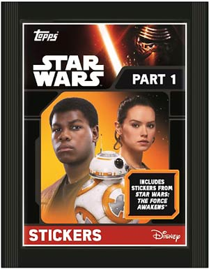 Topps 2016 Star Wars Episode VII The Force Awakens Sticker Pack