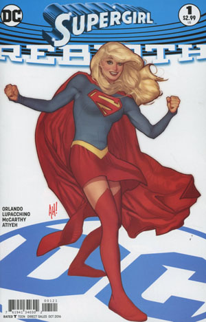 Supergirl Rebirth #1 Cover B Variant Adam Hughes Cover
