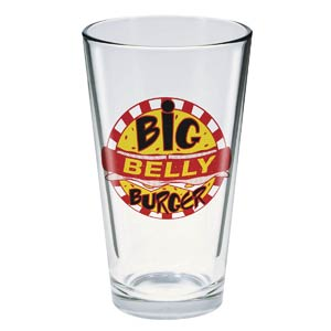 Toon Tumblers Arrow TV Big Belly Burger Pint Glass