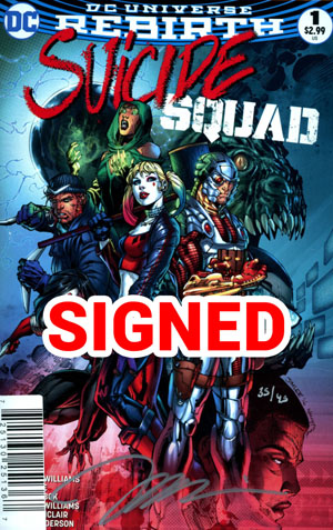 Suicide Squad Vol 4 #1 Cover G DF Signed By Jim Lee