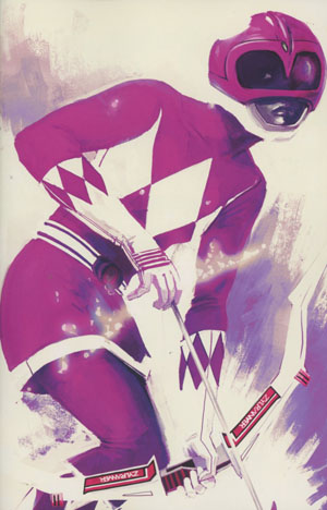 Mighty Morphin Power Rangers Pink #1 Cover E Incentive Stephanie Hans Virgin Variant Cover