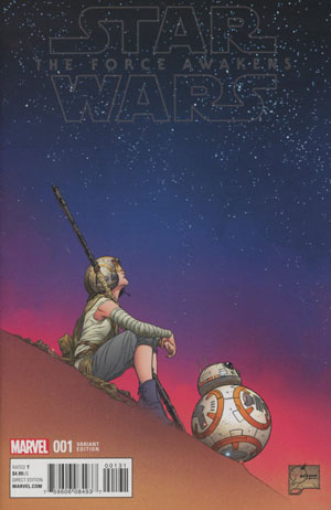 Star Wars Episode VII The Force Awakens Adaptation #1 Cover G Incentive Joe Quesada Color Variant Cover