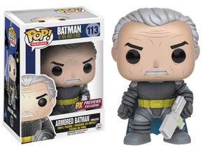 POP Heroes 113 Batman The Dark Knight Returns Armored Batman Unmasked Previews Exclusive Vinyl Figure