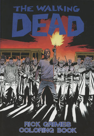 Walking Dead Rick Grimes Adult Coloring Book TP