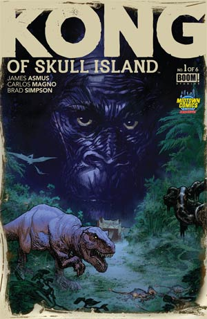 Kong Of Skull Island #1 Cover B Midtown Exclusive Ryan Sook Variant Cover