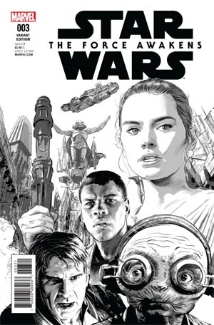 Star Wars Episode VII The Force Awakens Adaptation #3 Cover C Incentive Mike Deodato Jr Sketch Cover