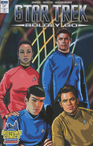 Star Trek Boldly Go #1 Cover B Midtown Exclusive Tony Shasteen Variant Cover