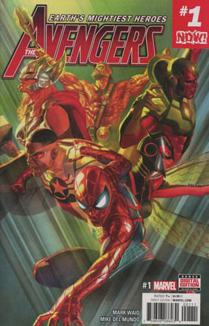 Avengers Vol 6 #1 Cover A 1st Ptg Regular Alex Ross Cover (Marvel Now Tie-In)