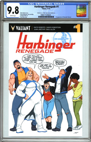 Harbinger Renegade #1 Cover E Varaint Pere Perez Valiant x CGC Replica Cover