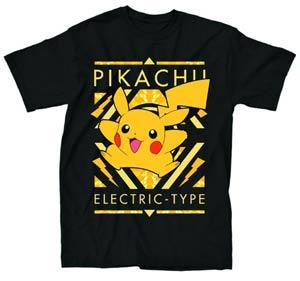 Pokemon Electric Type Black T-Shirt Large
