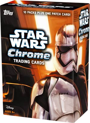 Topps 2016 Chrome Star Wars Episode VII The Force Awakens Trading Cards Pack