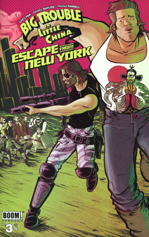 Big Trouble In Little China Escape From New York #3 Cover A Regular Daniel Bayliss Wraparound Cover