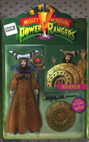 Mighty Morphin Power Rangers (BOOM Studios) #10 Cover B Variant Telmos Santos Action Figure Cover