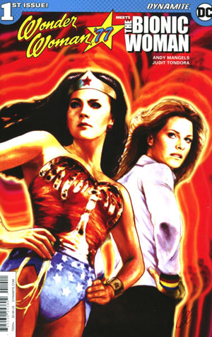 Wonder Woman 77 Meets The Bionic Woman #1 Cover A Regular Cat Staggs Cover