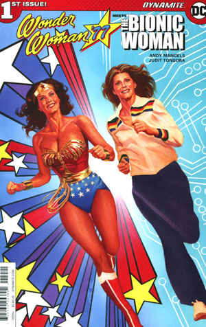 Wonder Woman 77 Meets The Bionic Woman #1 Cover B Variant Alex Ross Cover