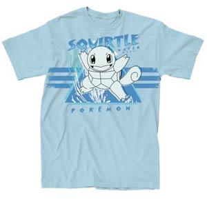 Pokemon Splish Splash Light Blue T-Shirt Large