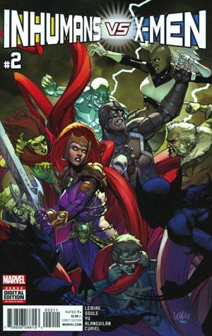 Inhumans vs X-Men #2 Cover A 1st Ptg Regular Leinil Francis Yu Cover