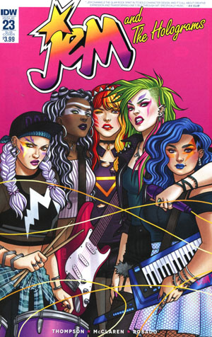 Jem And The Holograms #23 Cover B Variant Jen Bartel Subscription Cover