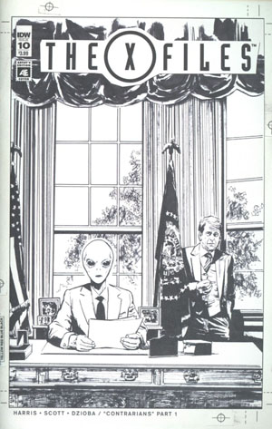 X-Files Vol 3 #10 Cover B Variant Greg Scott Artists Edition Cover