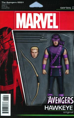 Avengers Vol 6 #3.1 Cover B Variant John Tyler Christopher Action Figure Cover