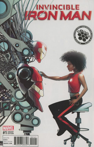 Invincible Iron Man Vol 3 #1 Cover G Incentive Mike McKone STEAM Variant Cover (Marvel Now Tie-In)