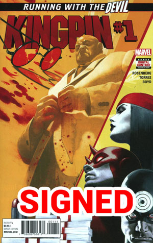 Kingpin Vol 2 #1 Cover H Regular Jeff Dekal Cover Signed By Matthew Rosenberg