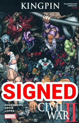 Civil War II Kingpin TP Signed By Matthew Rosenberg (Limit 1 Per Customer)