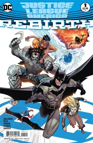 Justice League Of America Rebirth #1 Cover B Variant Ryan Ottley Cover