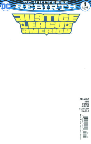 Justice League Of America Vol 5 #1 Cover C Variant Blank Cover