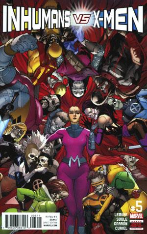 Inhumans vs X-Men #5 Cover A Regular Leinil Francis Yu Cover