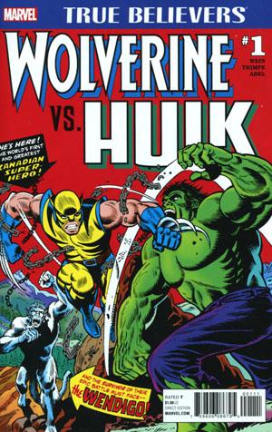 True Believers Wolverine vs Hulk #1 Cover A Regular Herb Trimpe & Jack Abel Cover
