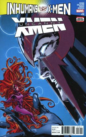 Uncanny X-Men Vol 4 #18 Cover A Regular Ken Lashley Cover (Inhumans vs X-Men Tie-In)