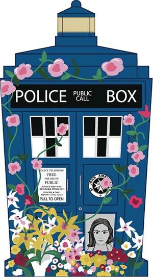 Doctor Who Titans Clara Tribute TARDIS 4.5-Inch Vinyl Figure