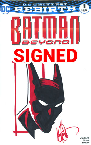Batman Beyond Vol 6 #1 Cover E DF Signed & Remarked By Ken Haeser