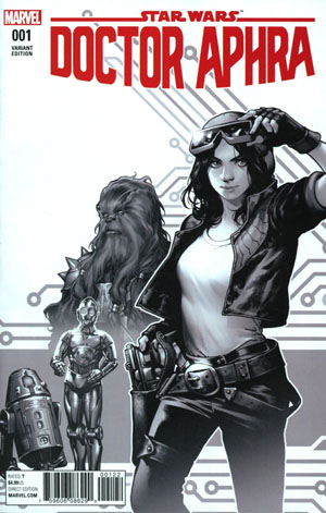 Star Wars Doctor Aphra #1 Cover H Incentive Kamome Shirahama Black & White Retailer Bonus Variant Cover