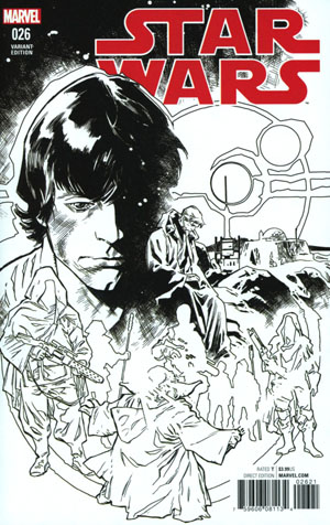 Star Wars Vol 4 #26 Cover C Incentive Stuart Immonen Black & White Cover