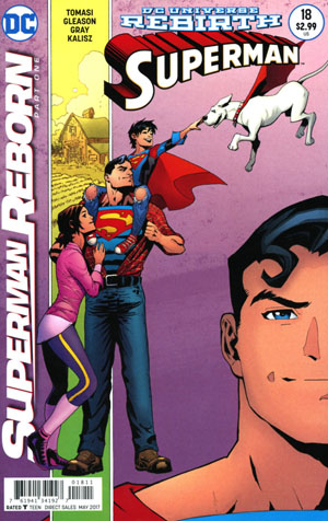 Superman Vol 5 #18 Cover A Regular Patrick Gleason & Mick Gray Cover (Superman Reborn Part 1)