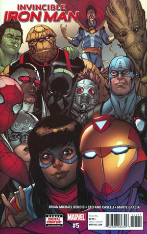 Invincible Iron Man Vol 3 #5 Cover A Regular Stefano Caselli Cover
