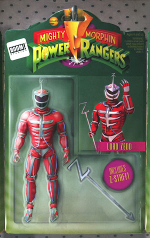 Mighty Morphin Power Rangers (BOOM Studios) #13 Cover B Variant Telmos Santos Action Figure Cover
