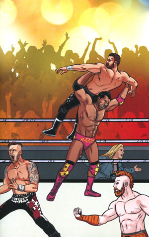 WWE #3 Cover C Variant Brent Schoonover Royal Rumble Connecting Cover