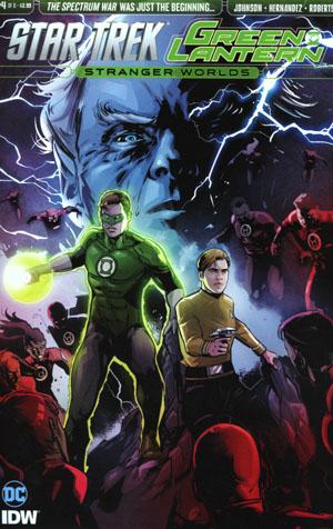Star Trek Green Lantern Vol 2 Stranger Worlds #4 Cover A Regular Angel Hernandez Cover