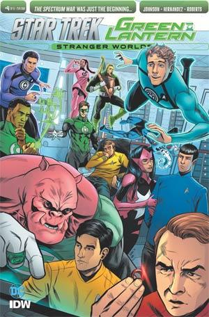 Star Trek Green Lantern Vol 2 Stranger Worlds #4 Cover B Variant Tony Shasteen Subscription Cover