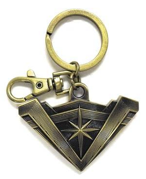 Batman v Superman Dawn Of Justice Wonder Woman Tiara Brass Pewter Keyring