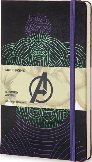 Moleskine Avengers Ruled Large Notebook - Hulk